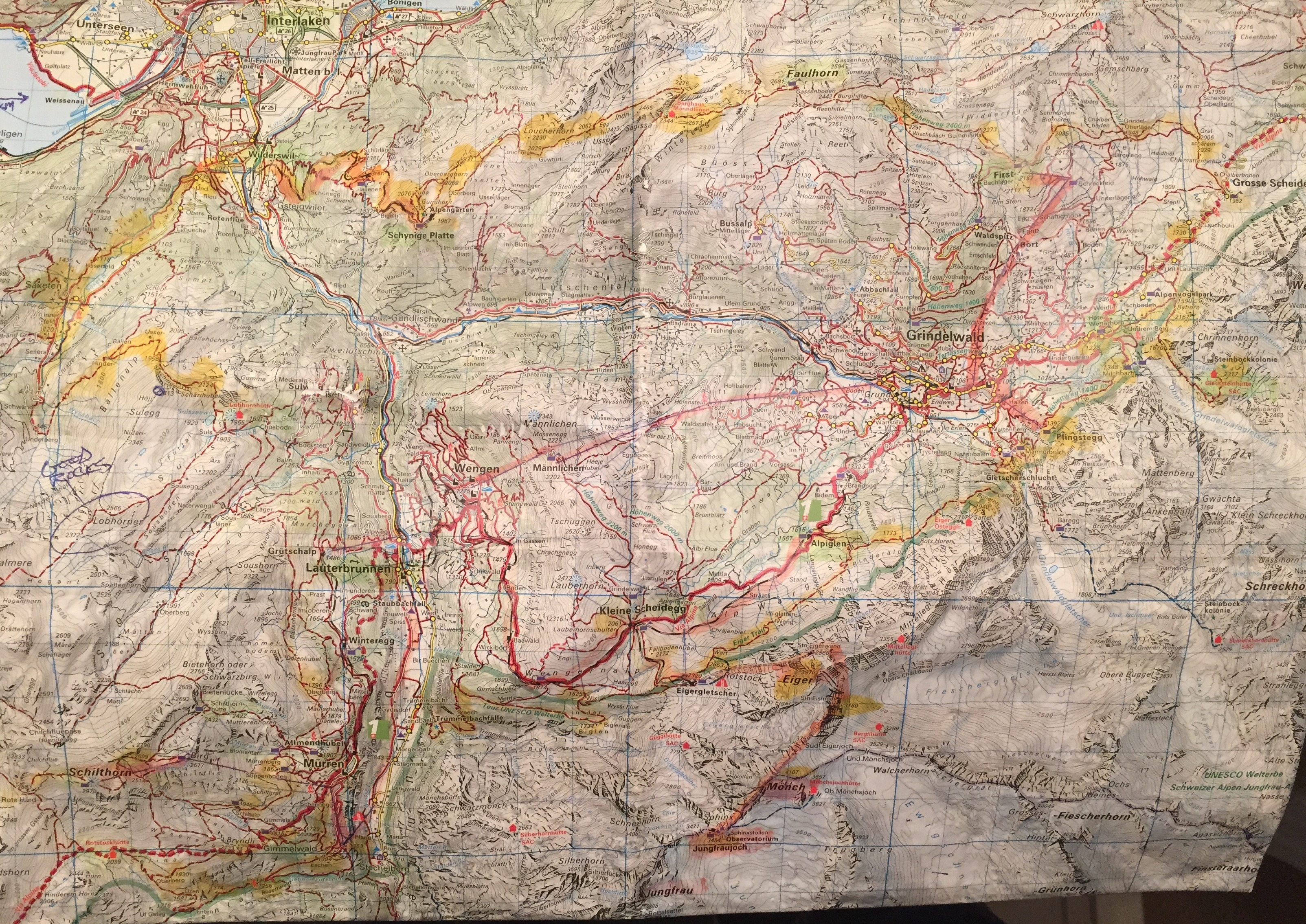 Trail Map Section Used